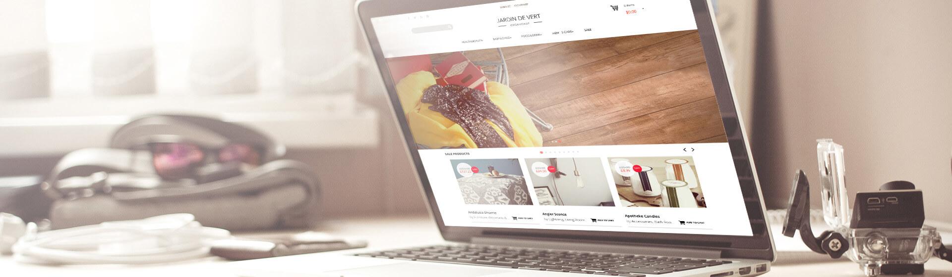 JARDIN DE VERT电商网站